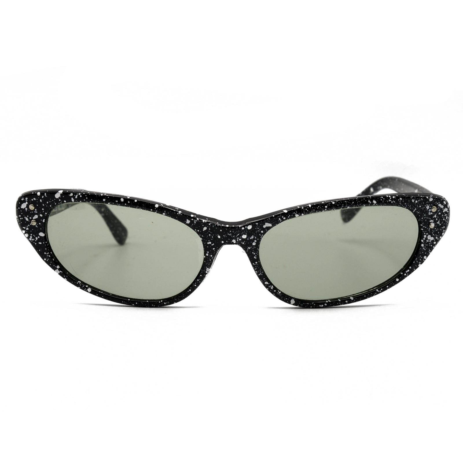 1960s Paint Splatter Cat Eye Sunglasses