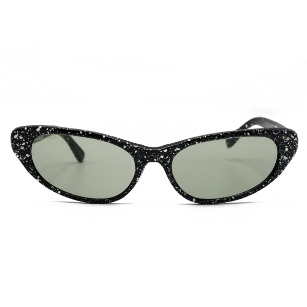 1960s Paint Splatter Cat Eye Sunglasses