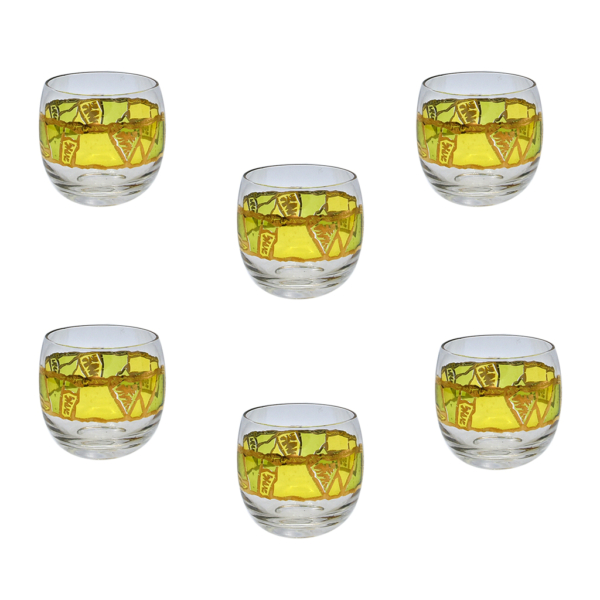 Georges Briard Yellow Europa Roly Polys, Set of Six