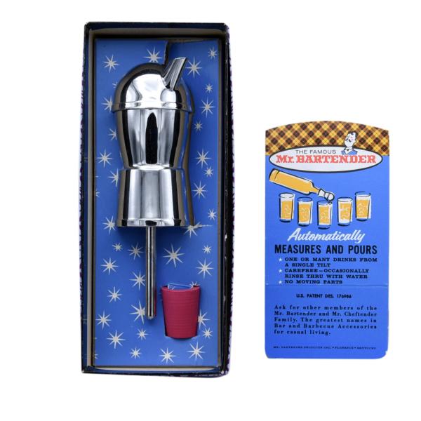 Mr. Bartender Measuring Dispenser Bar Liquor Tool. Original Box Packaging 1960s