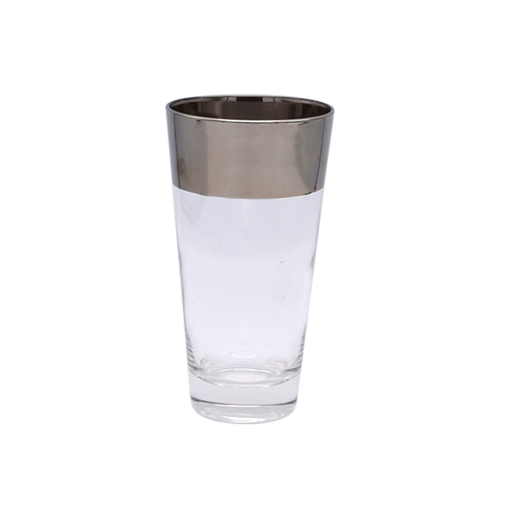 Dorothy Thorpe thick silver stripe highball glass