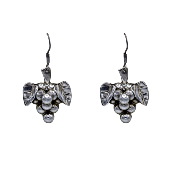 Vintage Taxco Sterling Grape Cluster Earrings