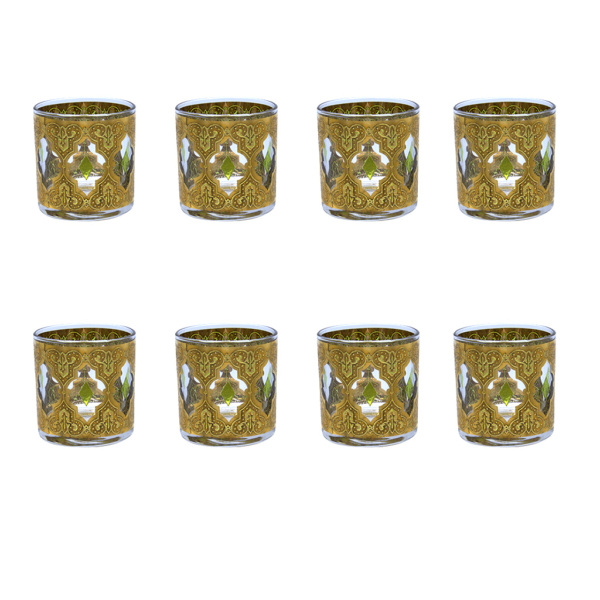 "Culver ""Valencia"" Small Rocks Glasses, Set of Eight (8)"
