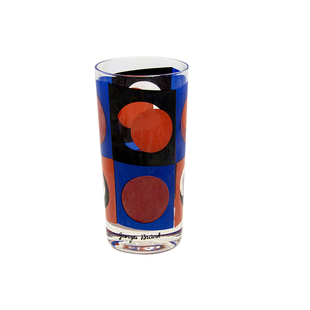 Georges Briard Multi Colored Polka Dot Highball Glasses, Set of Six (6)